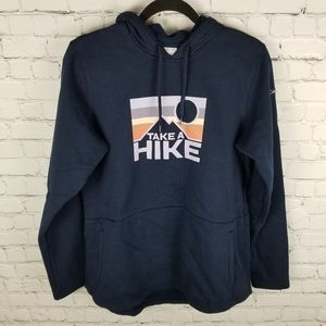 """COLUMBIA   """"Take A Hike"""" pullover graphic hoodie"""